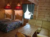 Log Cottage Loft Living room