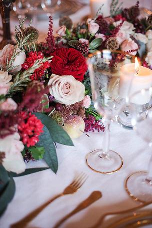 Madam Garden rose dinner party wedding