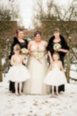 Winter wedding, Combermere Abbey
