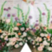 Garden meddow wedding flowers dorfold ha