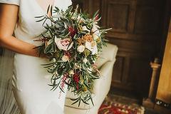 Sussex Silver bridal shower bouquet, Cheshire