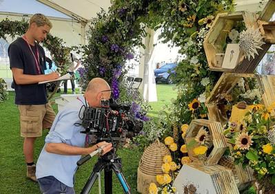 Jacqui O & BBC RHS Tatton flower show