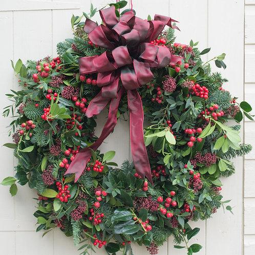 'Red Velvet' Door Wreath