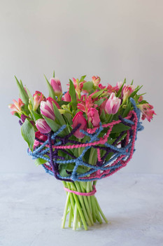 tulips & alstromeria handtied