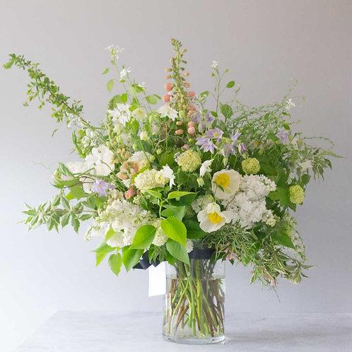 Seasonal Glass vase arrangement