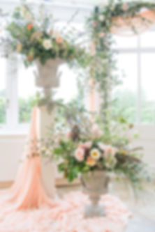 Scented Garden urns and arch, Combermere Abbey,  Shropshire