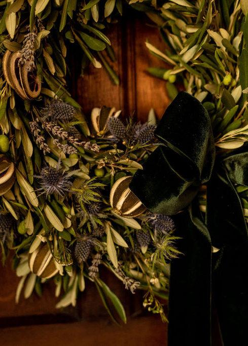 Lavender & Lime door wreath
