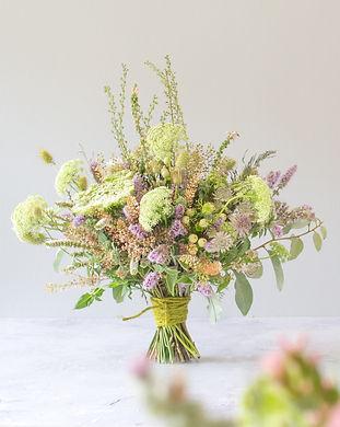 Seasonal  cheshire grown brides bouquet