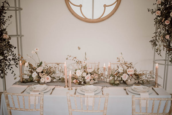 Intimate dinner party, Cheshire florals