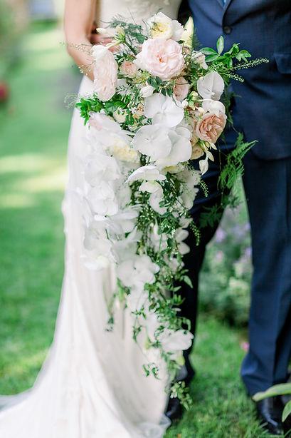 Orchid shower bouquet - Dorfold Hall-wedding florist