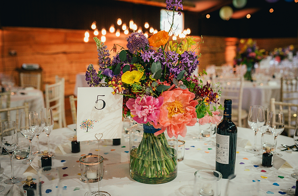 Organic wedding table centrepieces - Jacqui O