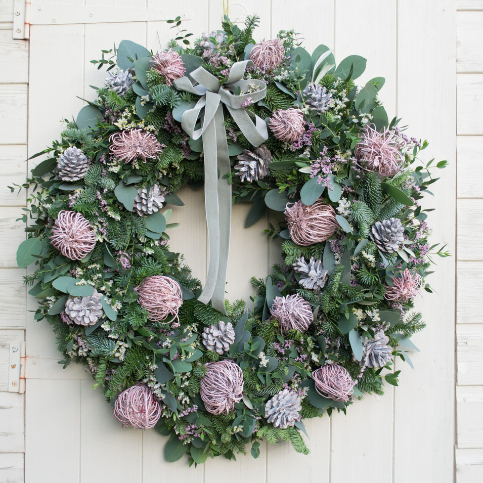 Graceful Pink door wreath