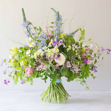 Lupin, iris and honesty gift bouquet