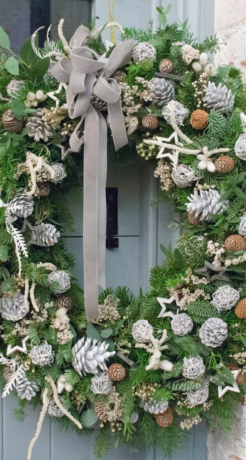 'Nordic light' Door Wreath