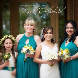 Rachel & her bridesmaids