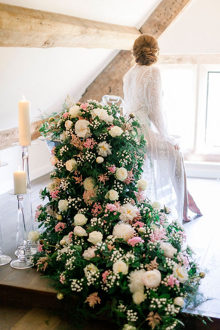 Floral installation-Dorfold Hall-Cheshire