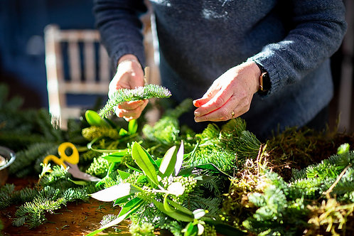 Christmas wreath workshop with festive afternoon tea at Churches Mansion