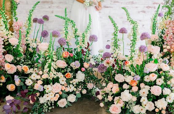 cottage garden wedding flowers, Cheshire