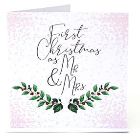 Mr & Mrs First Xmas Card