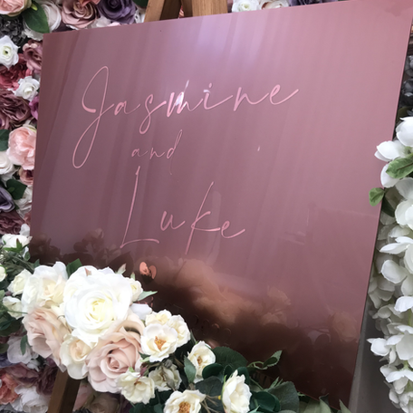 Rose Gold Welcome Sign