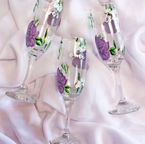 Purple Floral Flutes