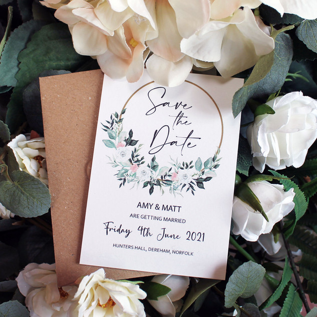 Rose Hoop Save the Date