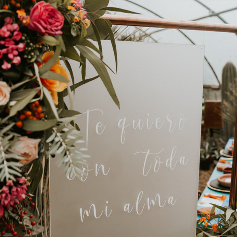 Frosted Acrylic Wedding Sign