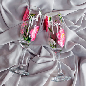 Peonies Floral Flutes