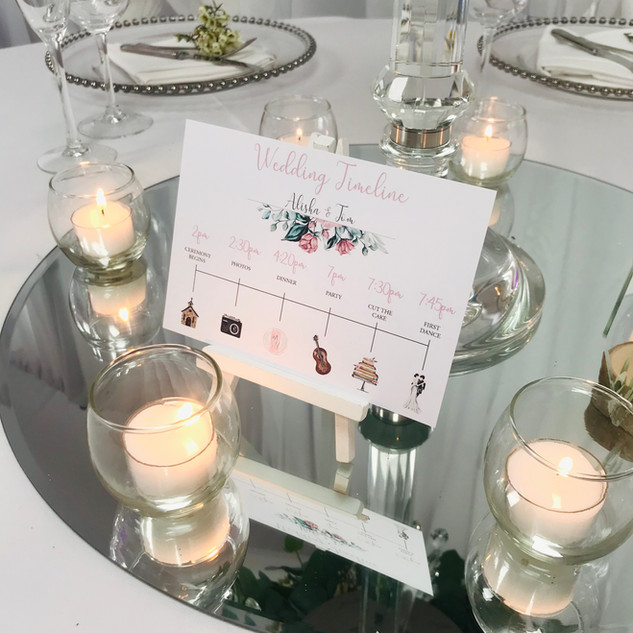Order of the Day Table Card