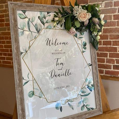 Eucalyptus Welcome sign