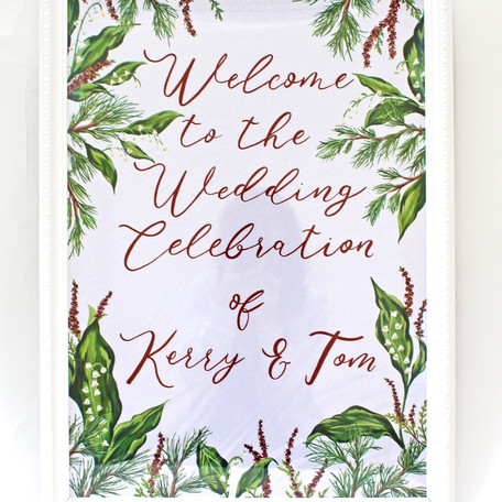 Bespoke Floral Hand Painted Welcome Sign