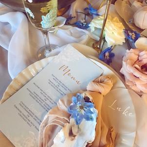 Blue Linear Floral (Menu)