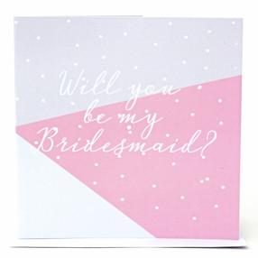 Geo Bridesmaid Card