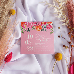 Summer Floral Save the Date