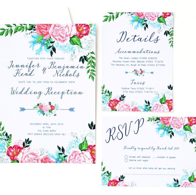 Pastel Roses Invitations