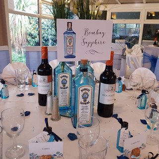 Gin Table Centre Pieces and Names