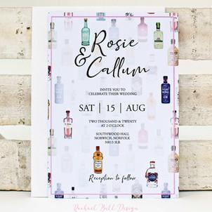 Gin Illustration Invitation