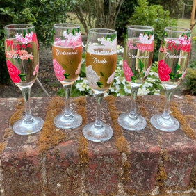 Mixed Pinks Floral Flutes