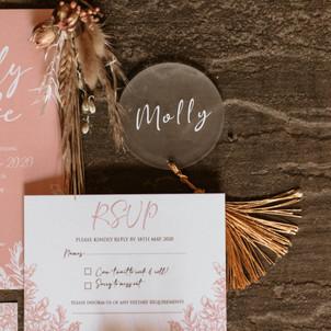 Preston Mauve Floral Stationery