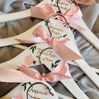 Blush Floral Hangers