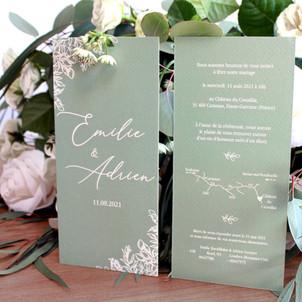 Preston Foliage DL Invitations