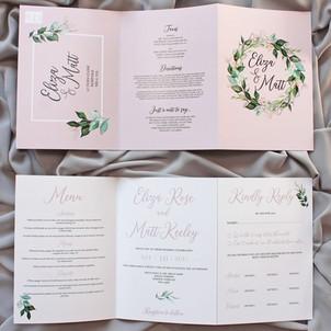 3 FOLD Foliage Invitation