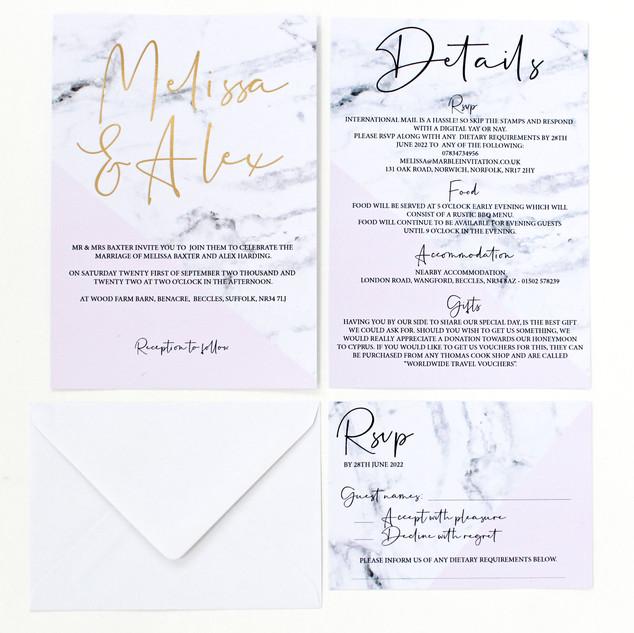 Marble Invitations