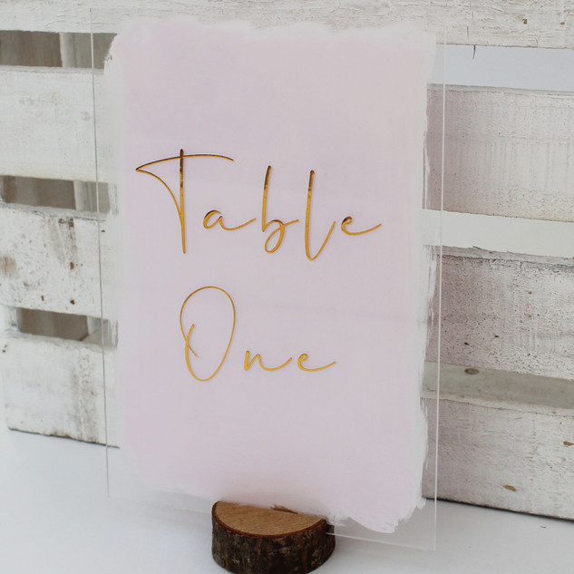 Rectangle Acrylic Table Number
