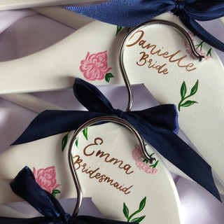 Floral Hangers Blush and Navy