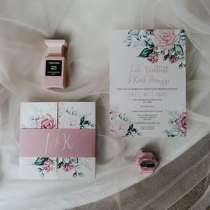 Mauve Rose Floral Gatefold