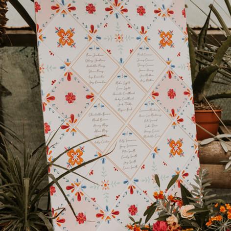 Spanish Tile Table Plan