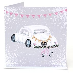 Just Married Beetle Card