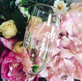 Blush Pink Floral Flute