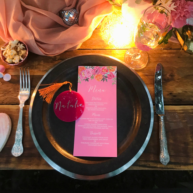 Place Setting Pink